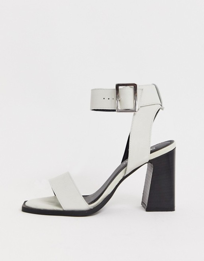 エイソス レディース サンダル シューズ ASOS DESIGN Herbert leather block heeled sandals in white White