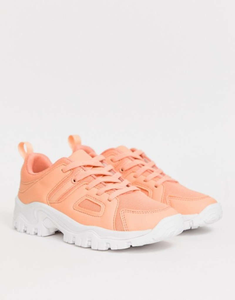 エイソス レディース スニーカー シューズ ASOS DESIGN Direct chunky sneakers in orange Orange