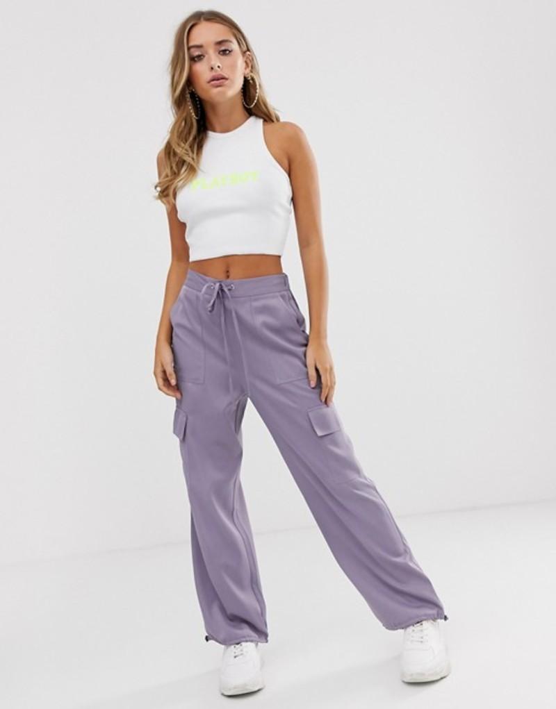 エイソス レディース カジュアルパンツ ボトムス ASOS DESIGN utility pants with pocket detail Lilac