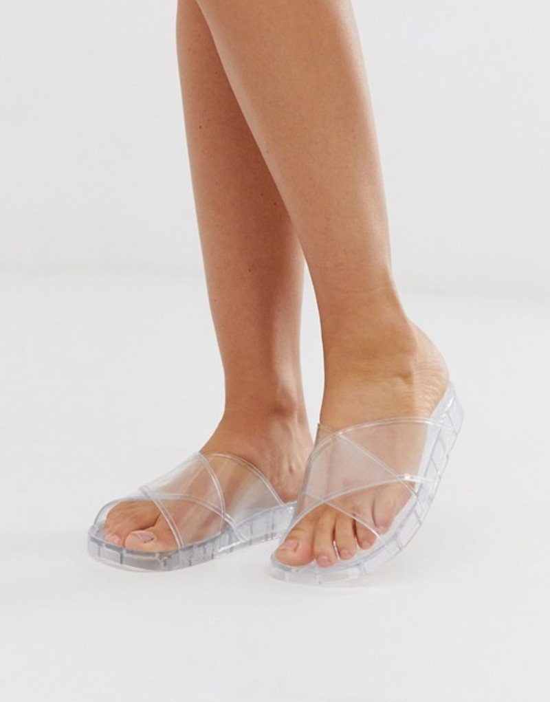 エイソス レディース サンダル シューズ ASOS DESIGN Fruity jelly flat sandals in clear Clear