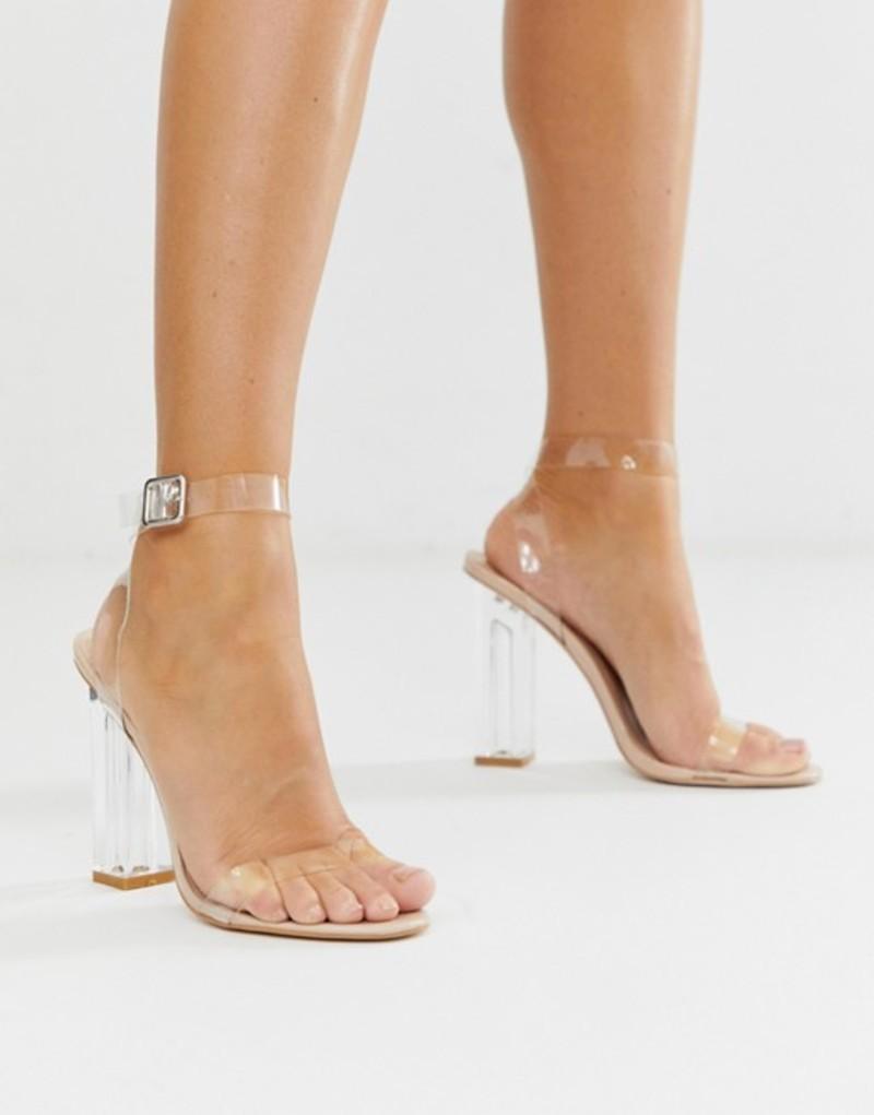 パブリックデザイア レディース ヒール シューズ Public Desire Alia Perspex Heeled Sandals Beige