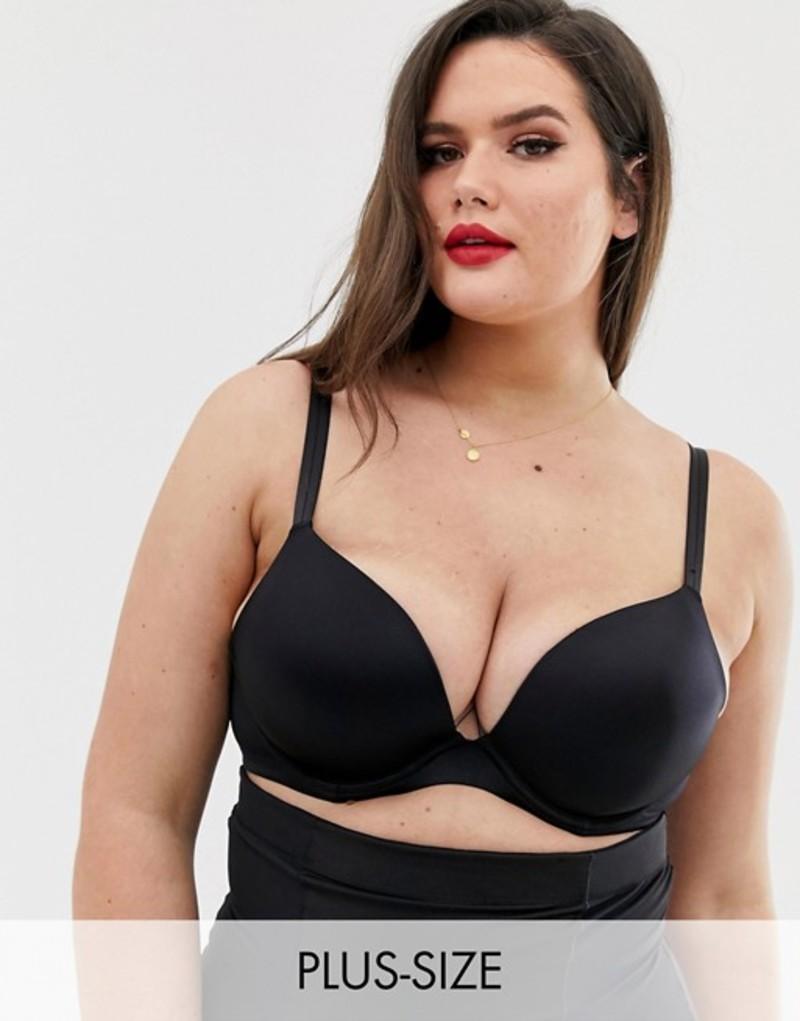 シティーシック レディース ブラジャー アンダーウェア City Chic Adore push up bra B - E cup in black Black