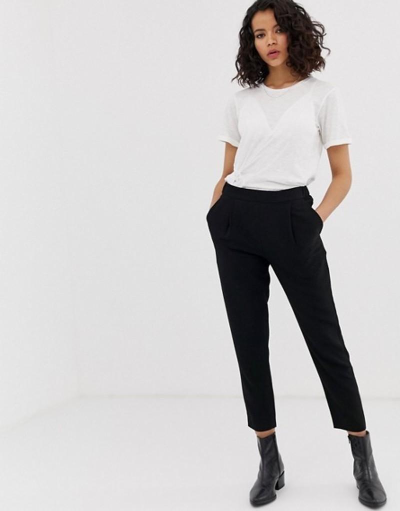 オールセインツ レディース カジュアルパンツ ボトムス AllSaints Soft Tailored Peg Pants Black