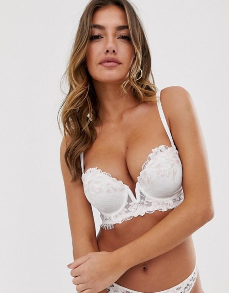 アンサマーズ レディース ブラジャー アンダーウェア Ann Summers Camelia strapless bra in white White