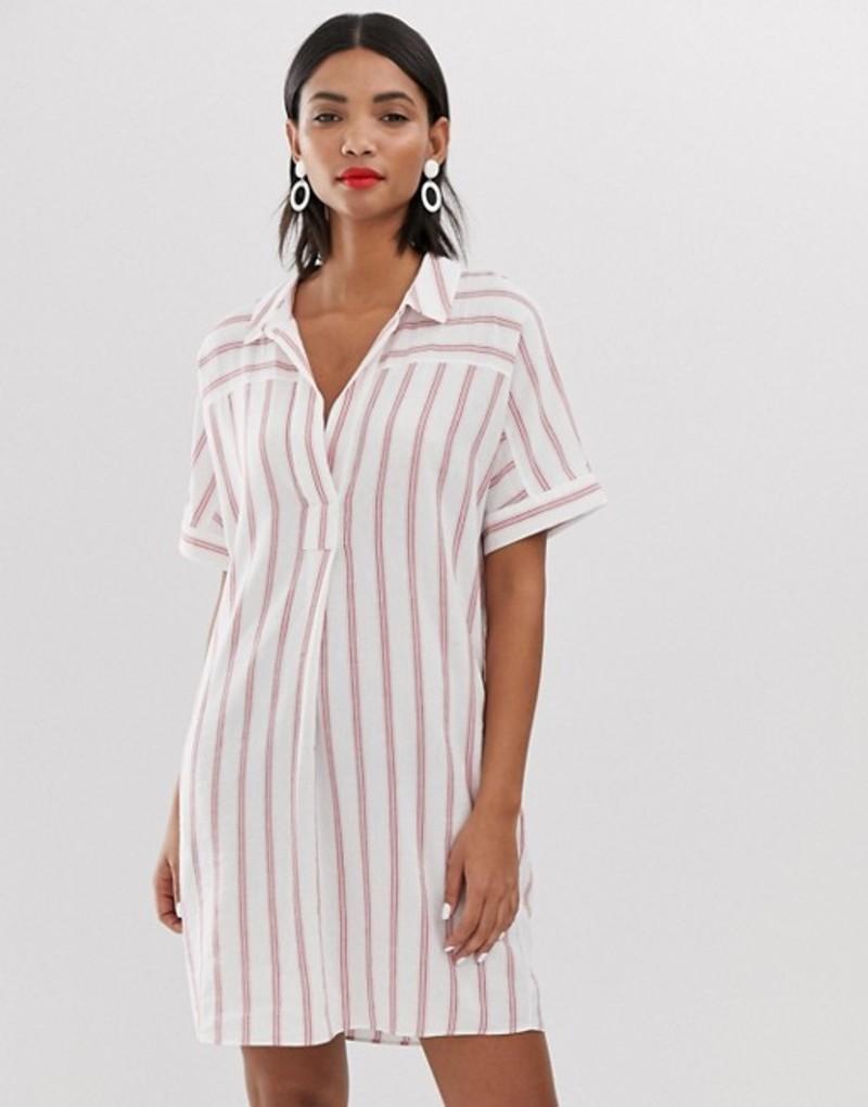 ホイッスルズ レディース ワンピース トップス Whistles Sabrina stripe mini shirt dress Red/multi