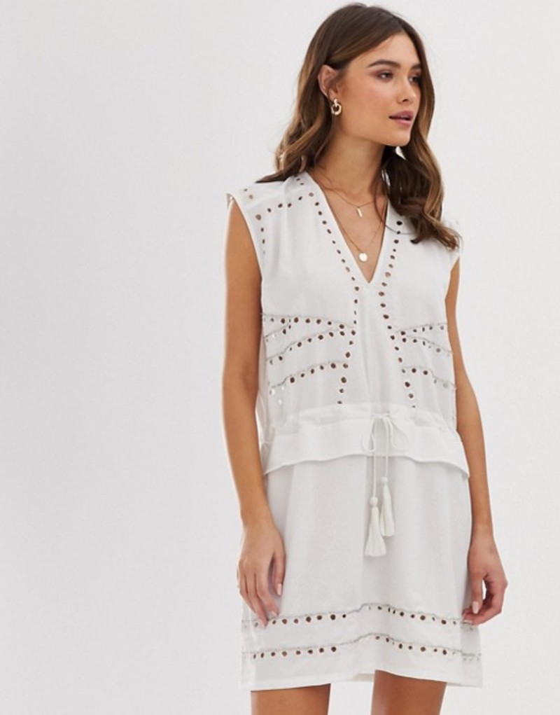 レリジョン レディース ワンピース トップス Religion studded mini shift dress White