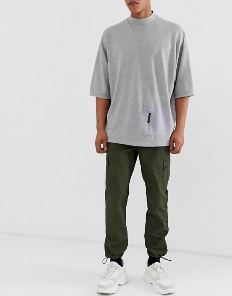 エイソス メンズ カジュアルパンツ ボトムス ASOS DESIGN cargo pants in dark green Dark green