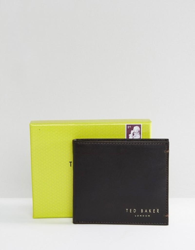 テッドベーカー メンズ 財布 アクセサリー Ted Baker Harvys leather billfold coin wallet Brown