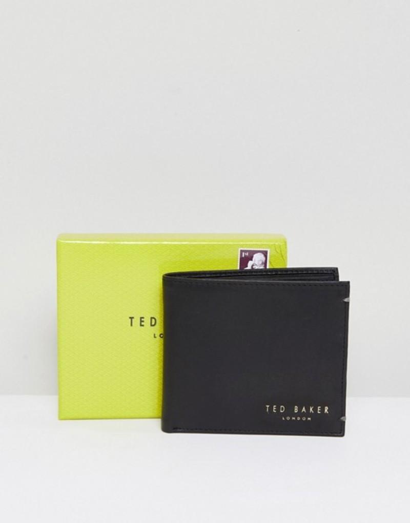 テッドベーカー メンズ 財布 アクセサリー Ted Baker Harvys leather billfold coin wallet Black