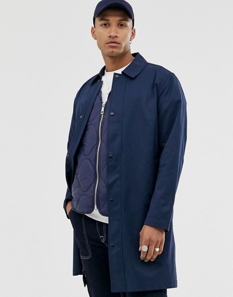 エイソス メンズ コート アウター ASOS DESIGN single breasted trench coat in navy Navy