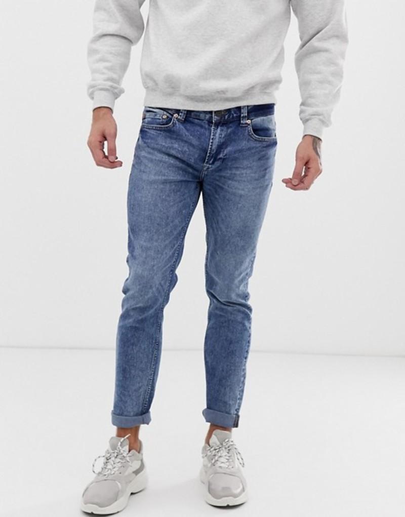 オンリーアンドサンズ メンズ デニムパンツ ボトムス Only & Sons skinny washed blue jeans Blue