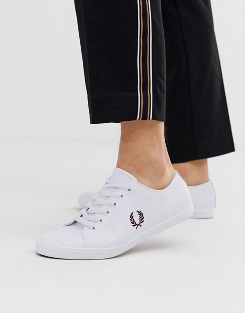 フレッドペリー メンズ スニーカー シューズ Fred Perry Kingston leather sneakers in white White