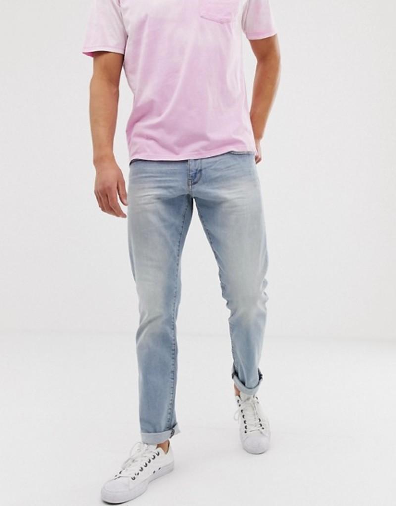 エスプリ メンズ デニムパンツ ボトムス Esprit slim fit jean in light blue wash Blue