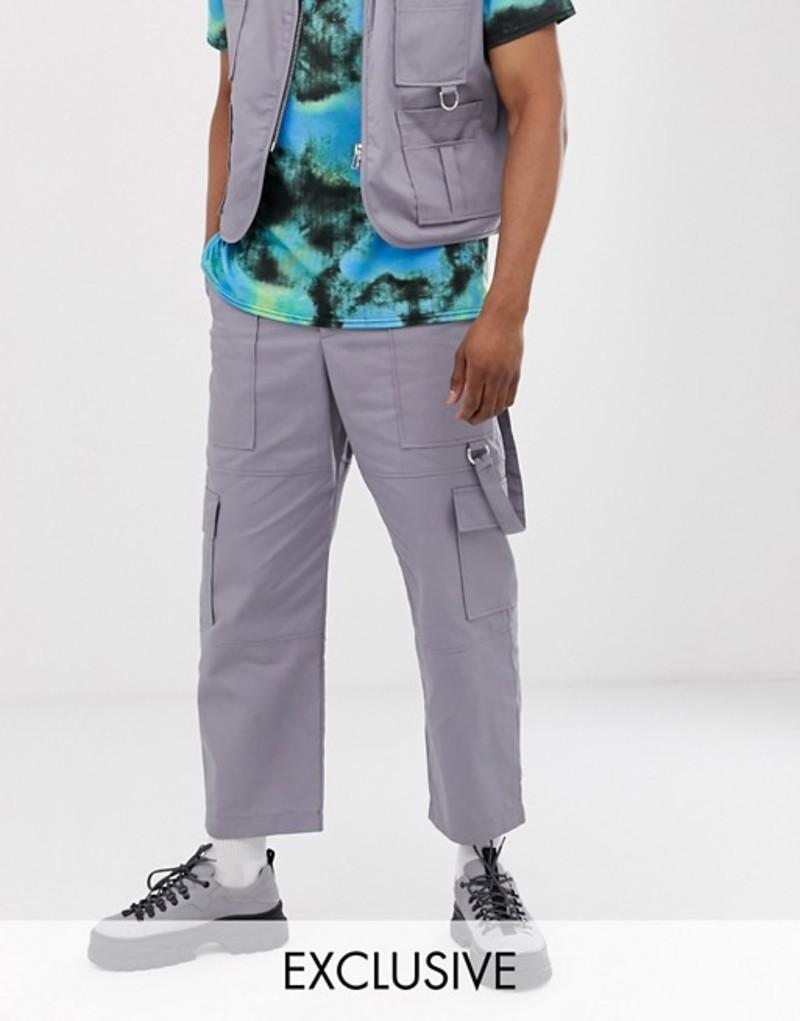 ザラグドプリースト メンズ カジュアルパンツ ボトムス The Ragged Priest utility pants in gray Grey