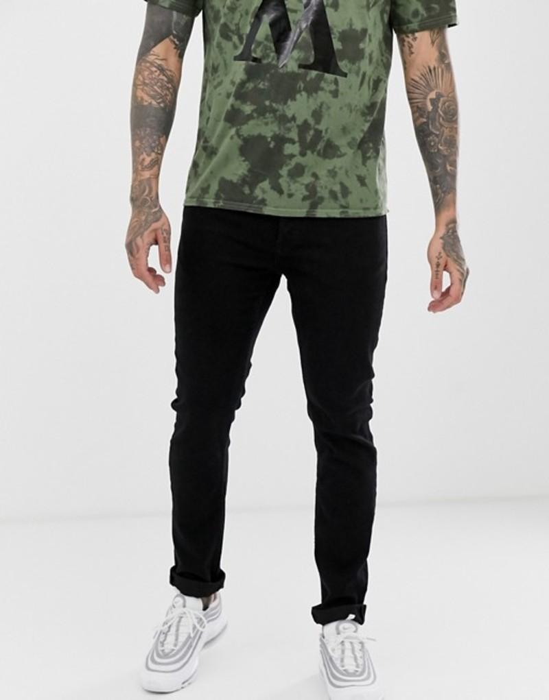オンリーアンドサンズ メンズ デニムパンツ ボトムス Only & Sons slim jeans in black Black denim