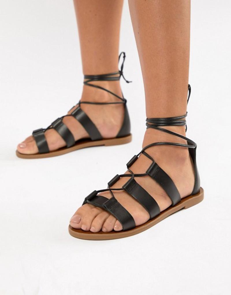 アルド レディース サンダル シューズ Aldo leather tie leg sandals Black