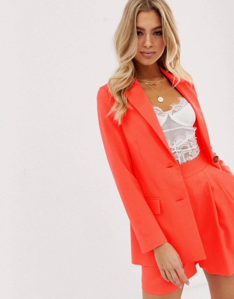 エイソス レディース ジャケット・ブルゾン アウター ASOS DESIGN pop coral soft suit blazer Coral