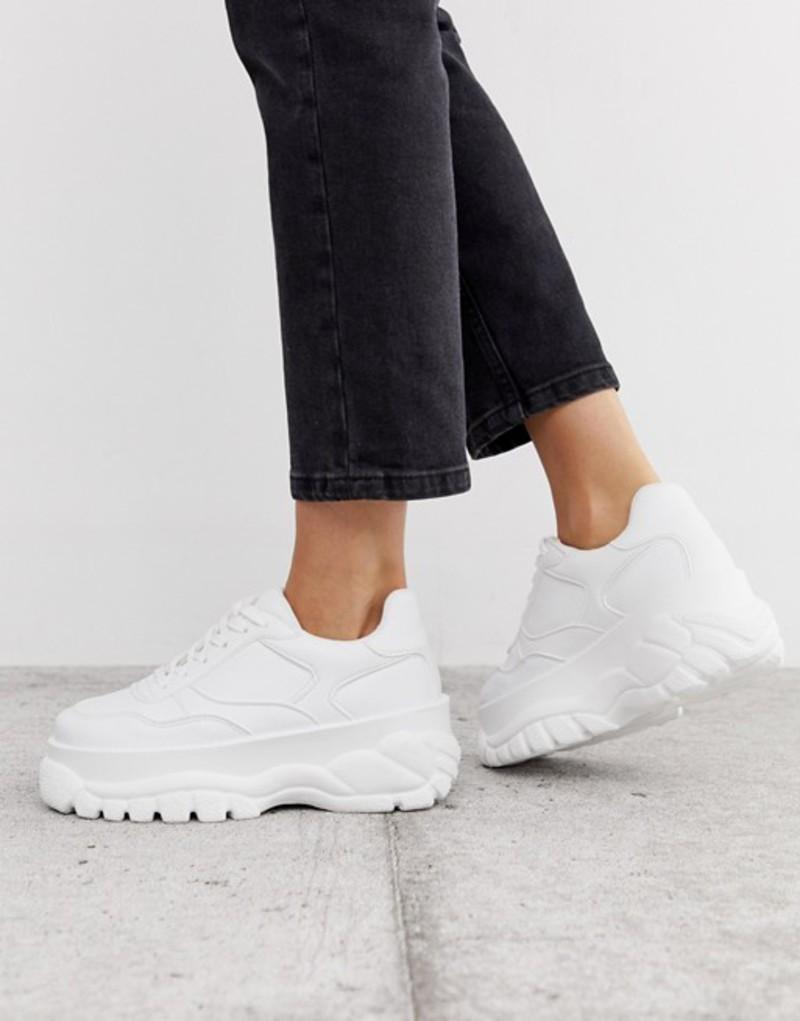 エイソス レディース スニーカー シューズ ASOS DESIGN Denmark chunky sneakers in white White