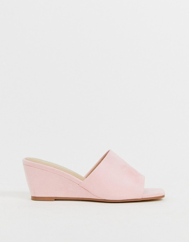 グラマラス レディース サンダル シューズ Glamorous pink wedge sandals Pink