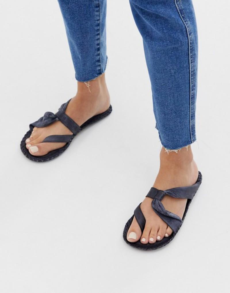 フリーピープル レディース サンダル シューズ Free People Bailey leather strappy sandals Black