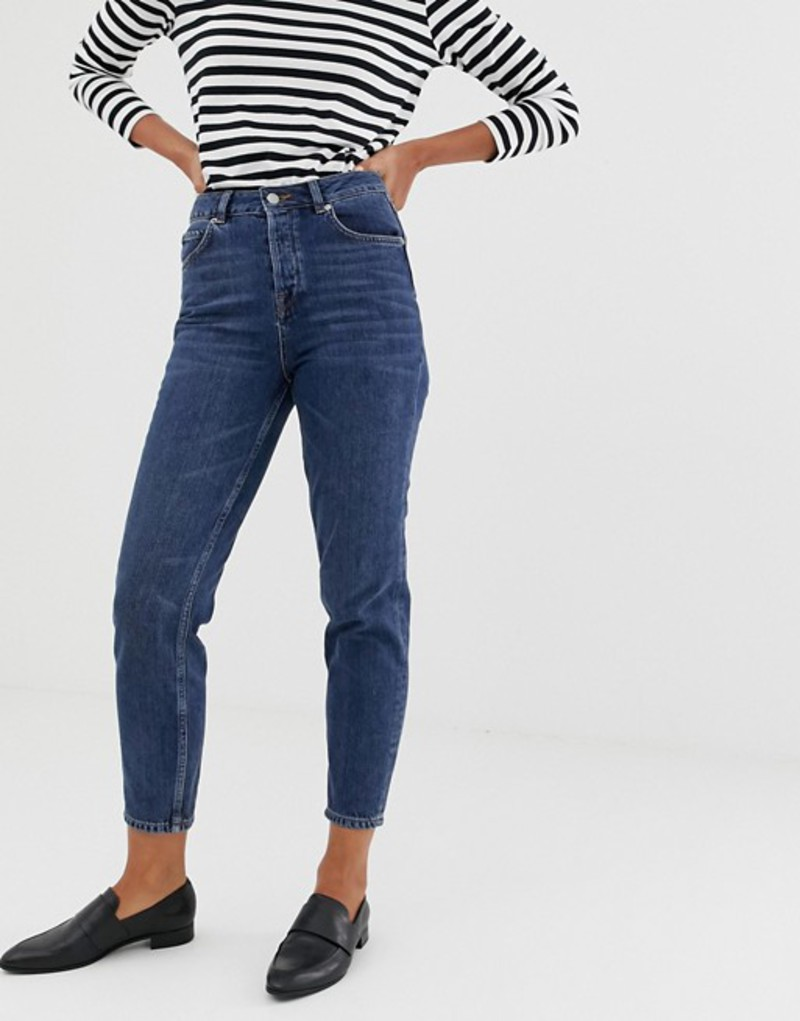 セレクティッド レディース デニムパンツ ボトムス Selected Femme mom jeans Dark blue denim