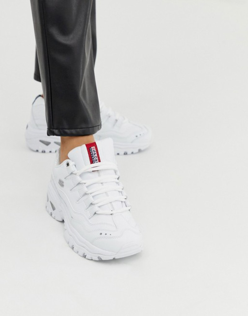 スケッチャーズ レディース スニーカー シューズ Skechers Energy sneakers in white Wml - white smooth l