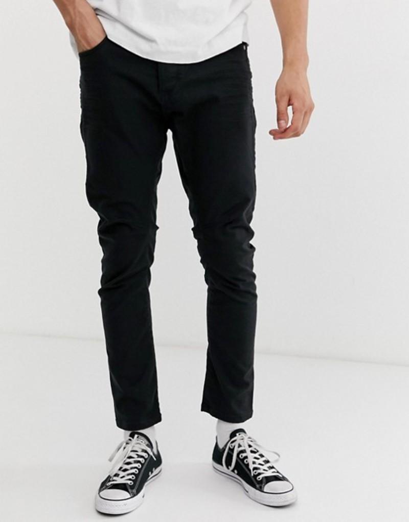 ジャック アンド ジョーンズ メンズ デニムパンツ ボトムス Jack & Jones LUKE slim fit jeans Black