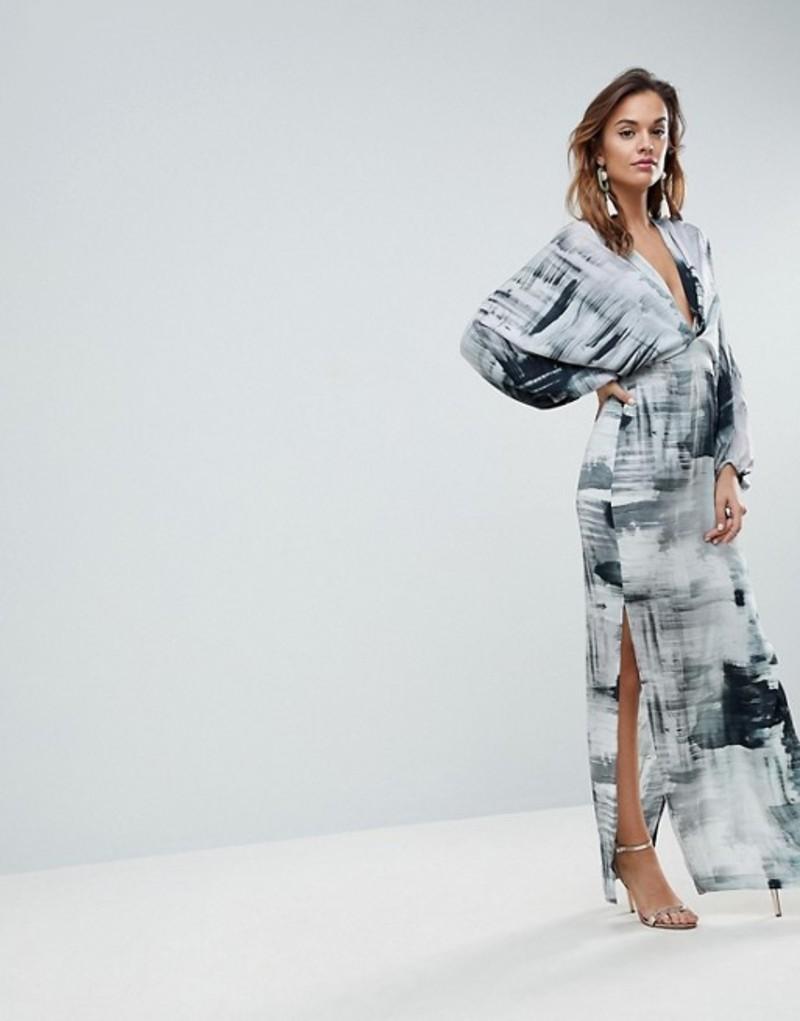 エイソス レディース ワンピース トップス ASOS Balloon Sleeve Maxi Dress in Abstract Print Multi