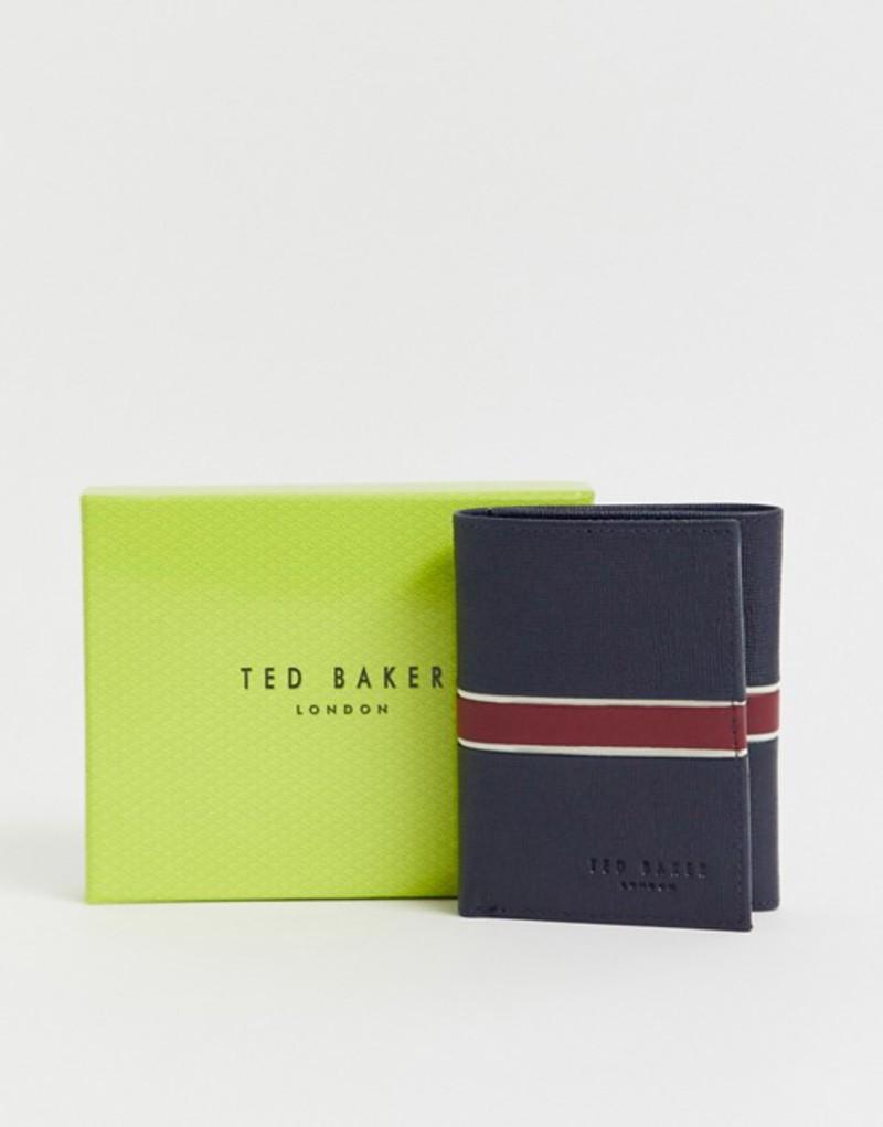 テッドベーカー メンズ 財布 アクセサリー Ted Baker Strive RFID tri-fold card holder in navy Navy
