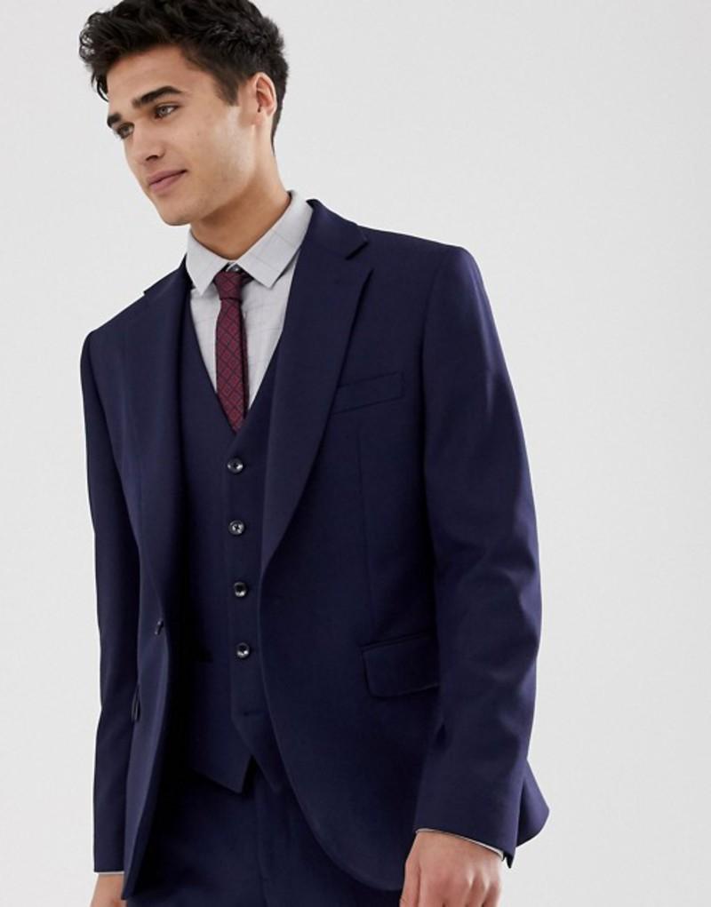 モス ブラザーズ メンズ ジャケット・ブルゾン アウター Moss London muscle fit suit jacket in navy Navy