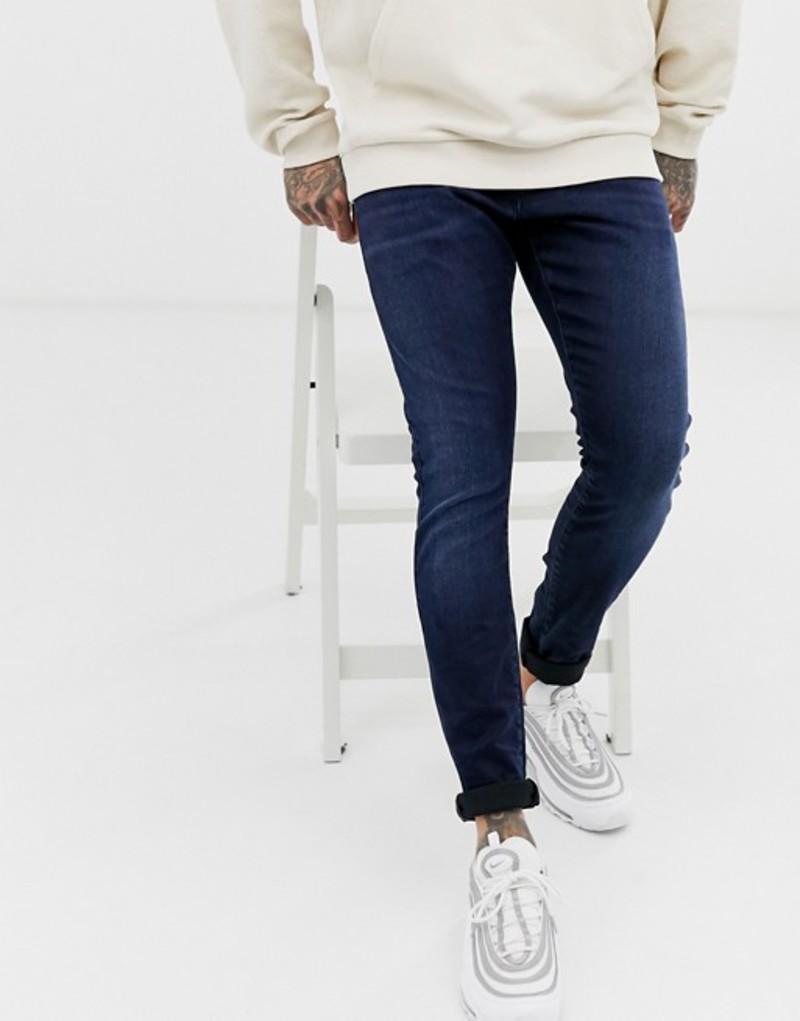 ジースター メンズ デニムパンツ ボトムス G-Star Revend skinny fit jeans in indigo navy Navy