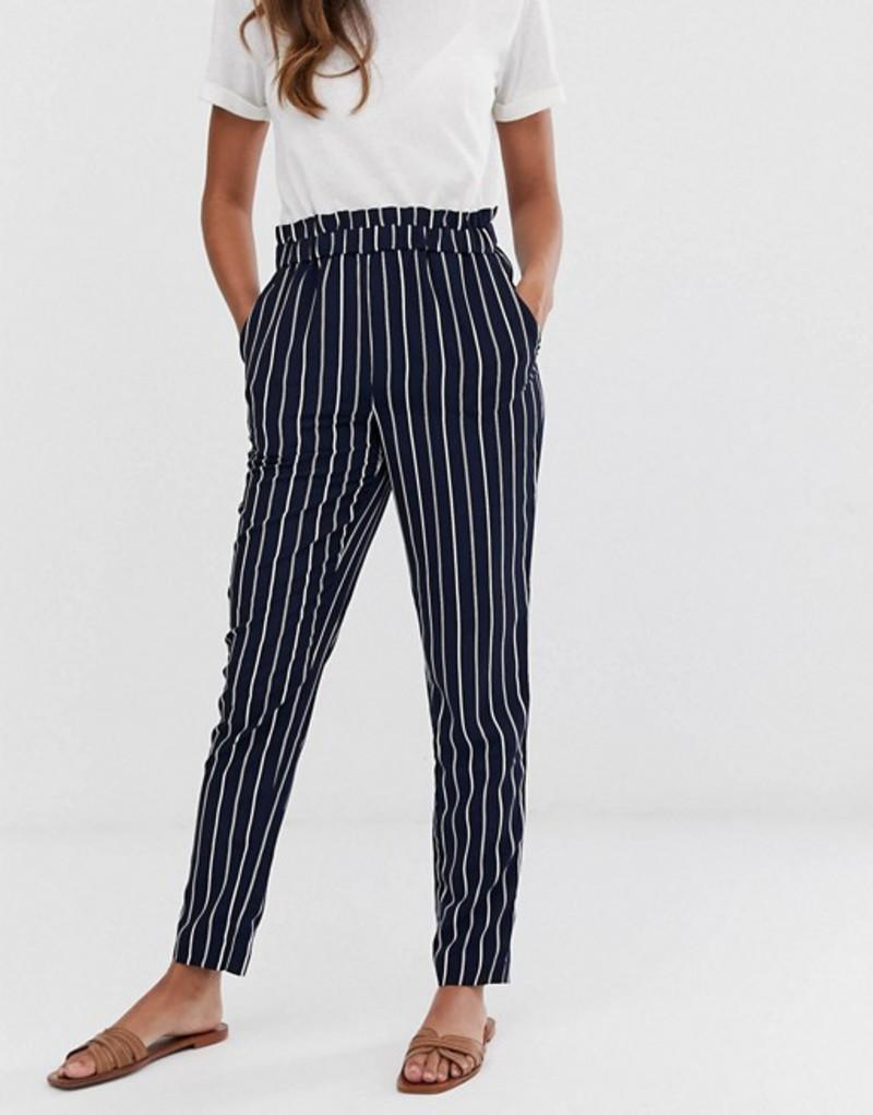 ワイエーエス レディース カジュアルパンツ ボトムス Y.A.S stripe pants Navy
