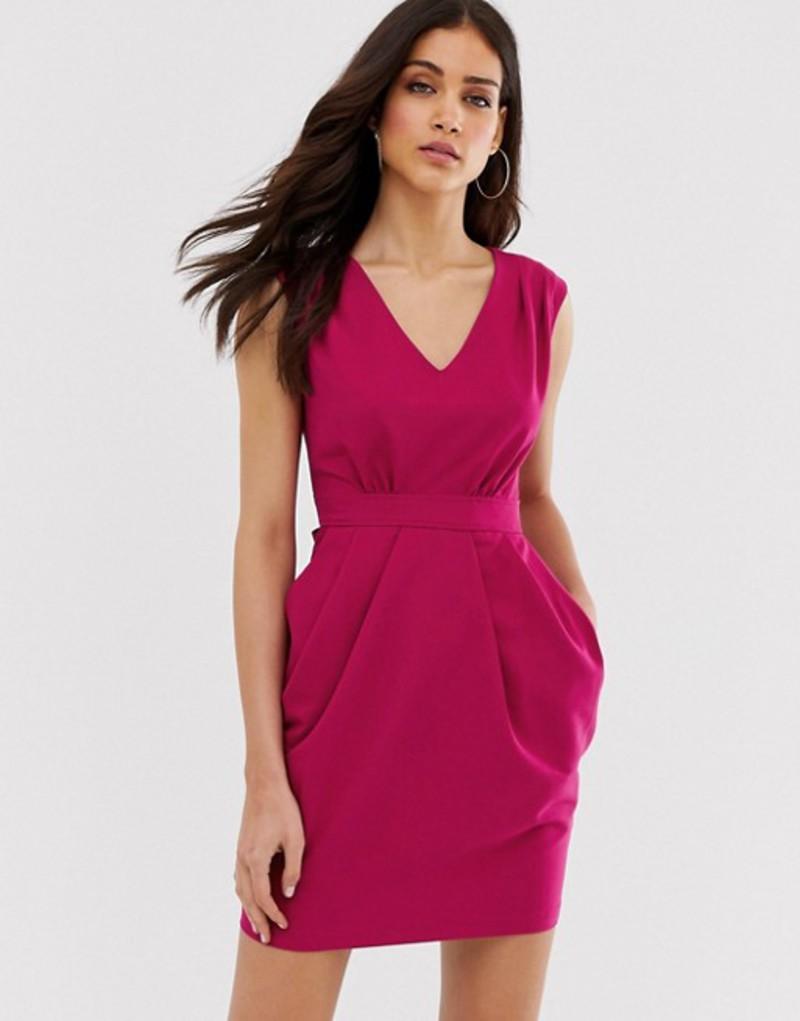 クローゼットロンドン レディース ワンピース トップス Closet tulip skirt tie dress Magenta