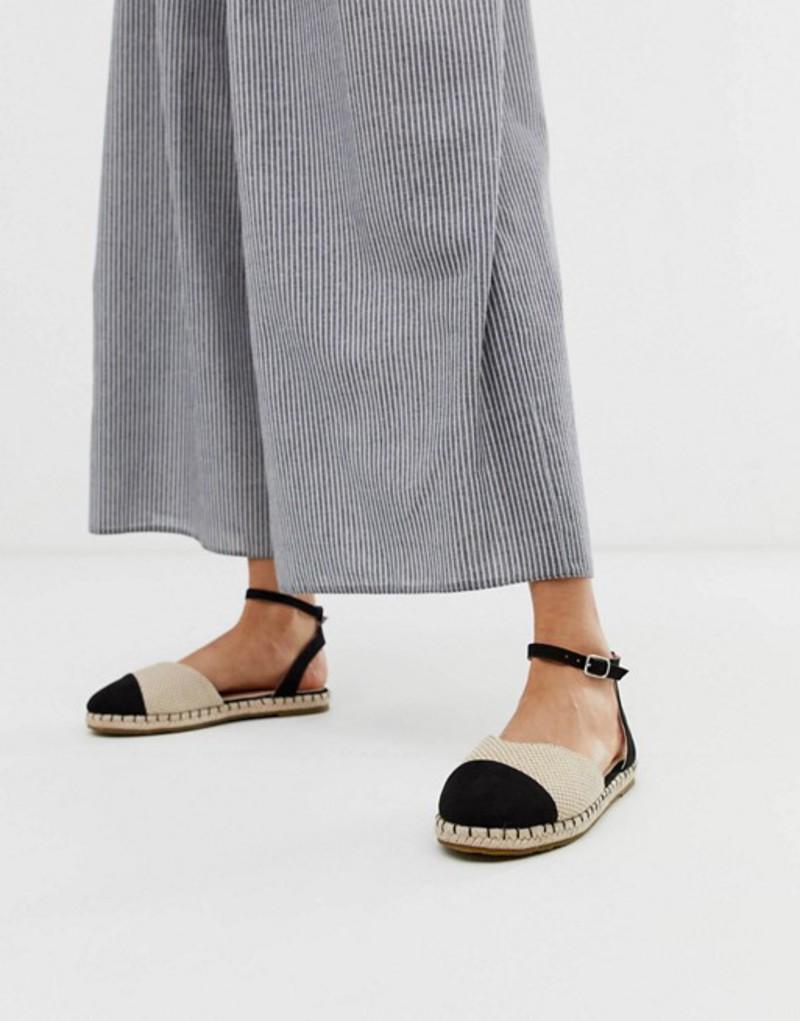 ピーシーズ レディース サンダル シューズ Pieces espadrille sandal Black