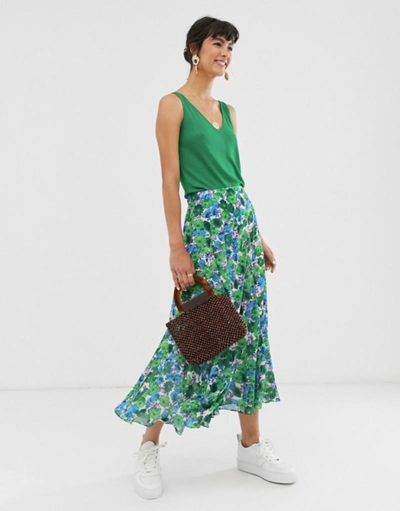 ホイッスルズ レディース スカート ボトムス Whistles zinnia floral marnie midi skirt Blue