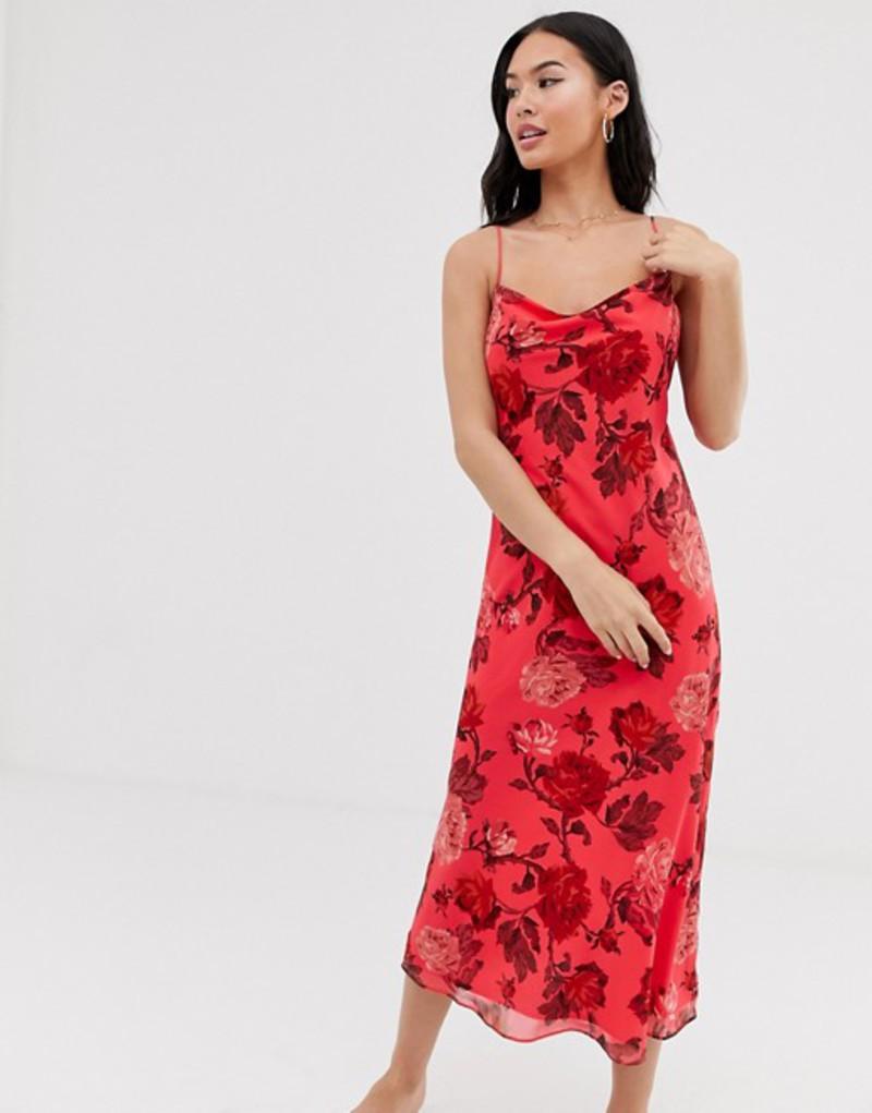 シーメロコレクティブ レディース ワンピース トップス C/Meo Collective Variation flora midi slip dress Hot pink rose