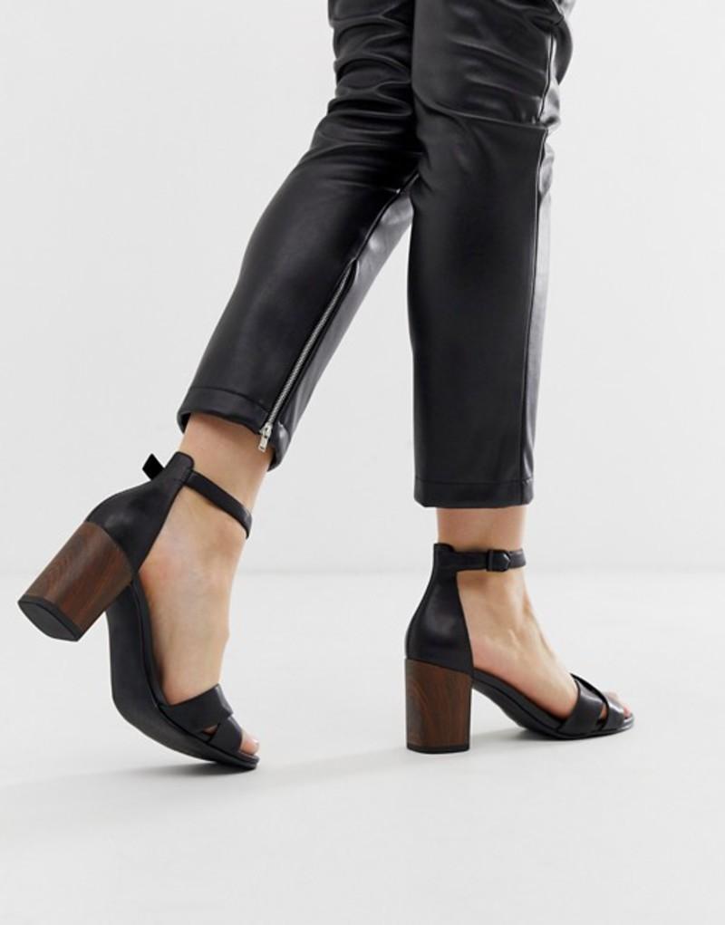 バガボンド レディース サンダル シューズ Vagabond carol black leather crossover heeled sandals Black