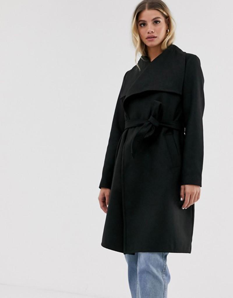 ジェイディーワイ レディース コート アウター JDY wrap coat Black