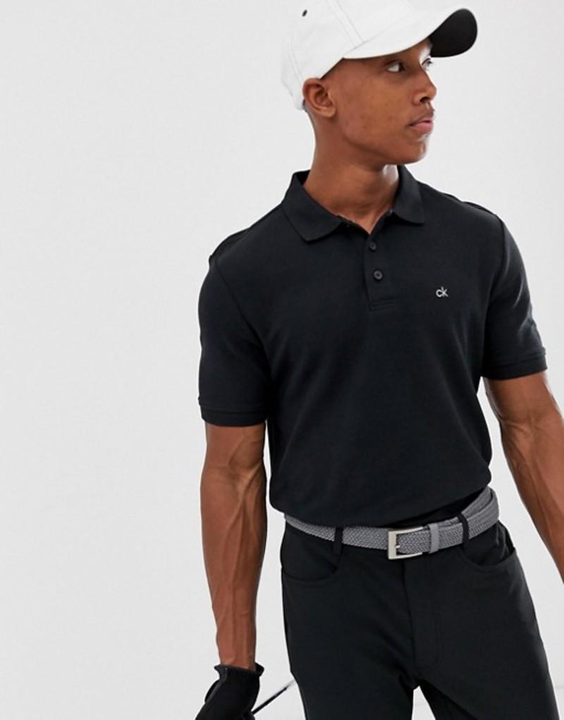 カルバンクラインゴルフ メンズ ポロシャツ トップス Calvin Klein Golf Vmidtown radical polo in black Black