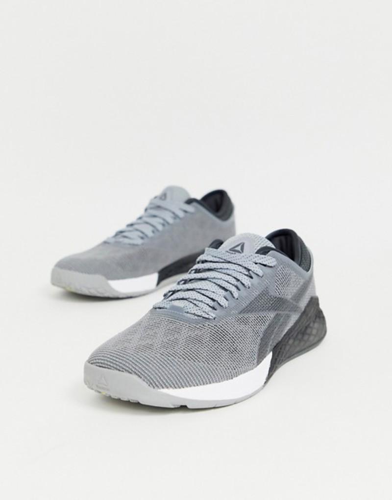 リーボック メンズ スニーカー シューズ Reebok nano 9.0 sneakers in gray Grey
