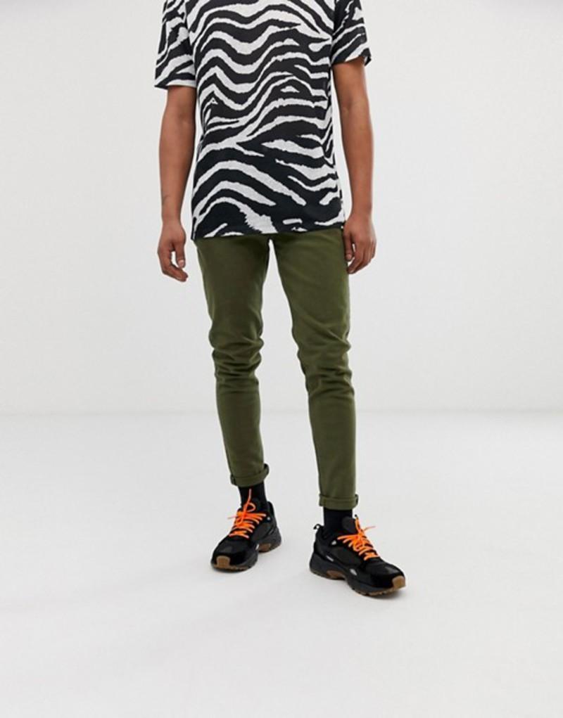 ウィークデイ メンズ デニムパンツ ボトムス Weekday Cone slim tapered jeans in green Green