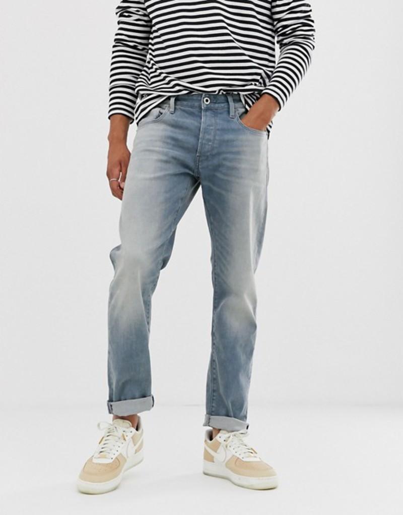 ジースター メンズ デニムパンツ ボトムス G-Star 3301 Italian made slim jeans in light aged Blue