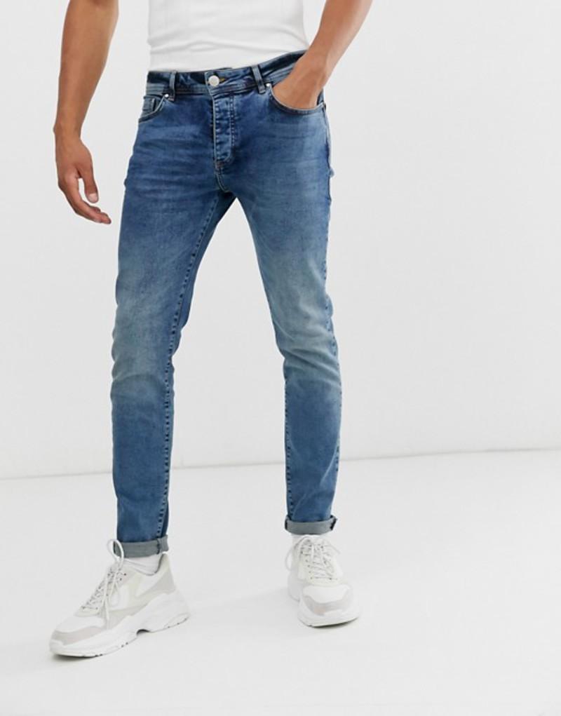 グッドフォーナッシング メンズ デニムパンツ ボトムス Good For Nothing slim jeans in mid wash blue Blue