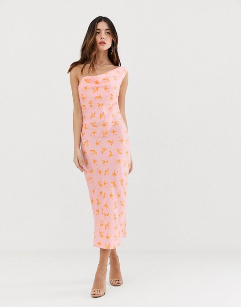 キープセイク レディース ワンピース トップス Keepsake allure strappy midi dress Blush ditsy floral