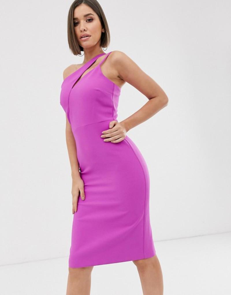 リバーアイランド レディース ワンピース トップス River Island slash neck bodycon midi dress in purple Purple