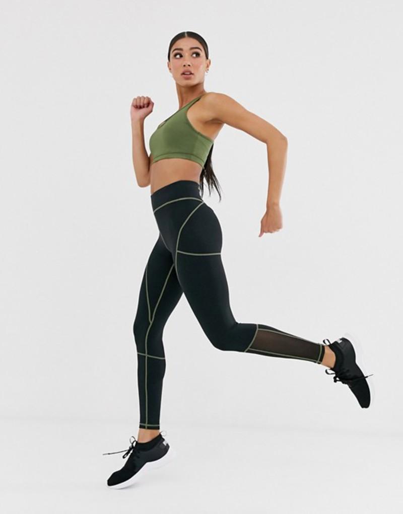 エイソス レディース レギンス ボトムス ASOS 4505 legging with contrast stitch detail Black