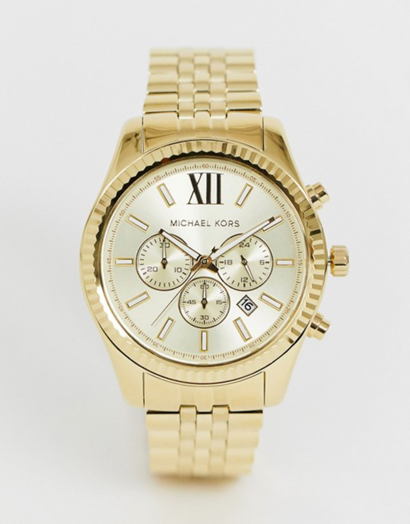 マイケルコース メンズ 腕時計 アクセサリー Michael Kors MK8281 Lexington gold chronograph watch Gold
