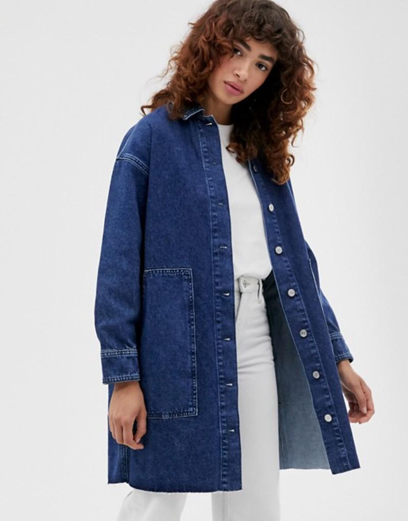 セレクティッド レディース シャツ トップス Selected Femme mid blue denim shirt Blue