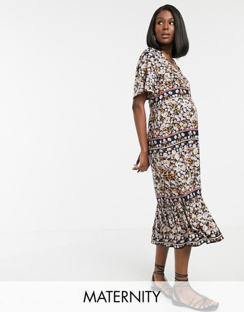 ママライシアス レディース ワンピース トップス Mama.licious maternity paisley print smock maxi dress maternity dress Multi