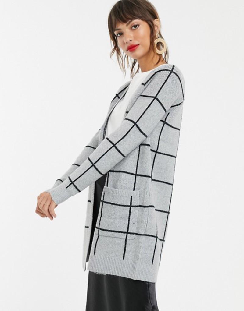 ヴェロモーダ レディース カーディガン アウター Vero Moda grid check print cardigan Multi